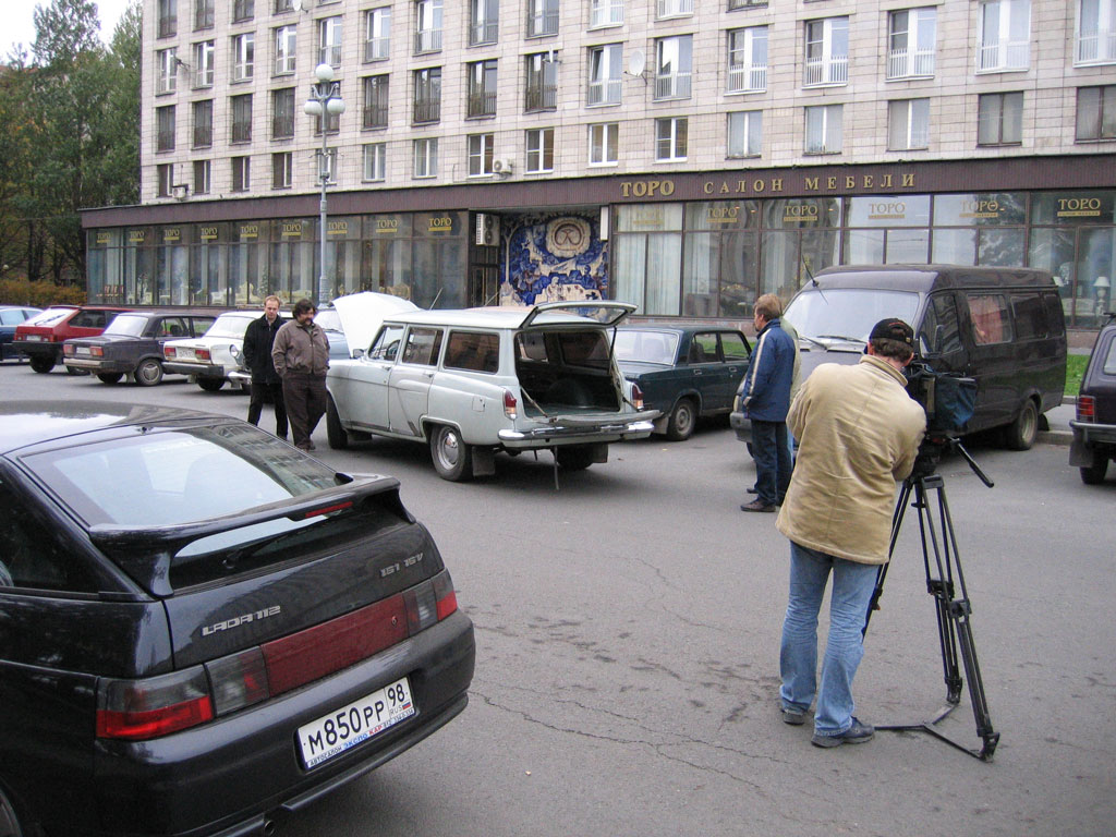 ФОТО Съемки для РТР, 2006, С-Петербург У домика Петра ГАЗ-21 ВОЛГА, photo GAZ-21 VOLGA